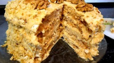 Очень вкусный «Киевский» тортик с безе и орехами