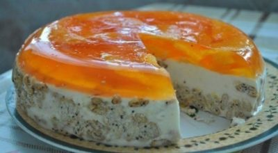 Торт «Апельсинка» без выпечки. Всегда получается безупречно. Мой любимый тортик
