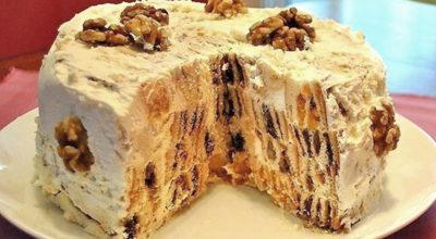 Оригинальный торт «Трухлявый пень»