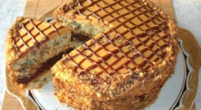 Вкусный и простой в приготовлении домашний торт «Витязь»