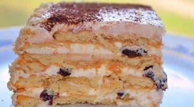 Вкусный торт с черносливом без выпечки. Справятся даже дети