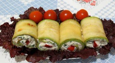 Рулетики из кабачков с сыром и чесноком: вкусное летнее блюдо