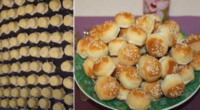 Закусочные пирожки-малютки, делаю 100 штук за 20 минут. Замораживаю, в случае неожиданных гостей быстренько выпекаю