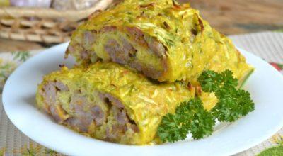Закусочный кабачковый рулет — ешь и худей