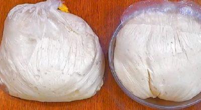 Как сделать дрожжевое тесто, не прикасаясь к нему: и тесто готово, и руки чистые