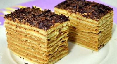 Обалденный торт «МИКАДО» с карамельным кремом