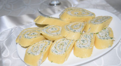 Сырные рулетики с творогом и зеленью