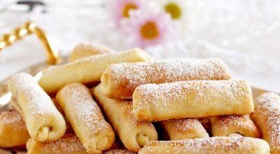 Тающее во рту печенье «Сигареты» с орехами