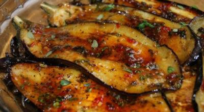 Вкусные пикантные баклажаны по-итальянски