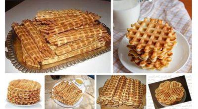 25 вкусных рецептов нежных вафель для электровафельницы
