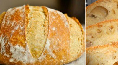 Домашний хлеб без замеса: этот рецепт прост как раз, два, три. Пышный, душистый, с хрустящей корочкой…