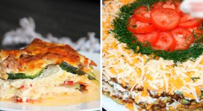 Два рецепта из кабачков: лазанья и торт