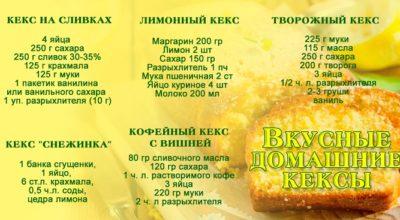 Как приготовить вкусный рассыпчатый кекс
