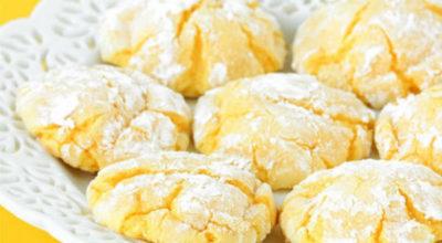 Мое самое любимое лимонное печенье из творожного теста: Мягкое тесто с приятным вкусом и ароматом лимона