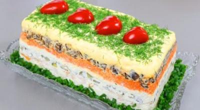 Новый оригинальный салат «Король стола». Авторский рецепт