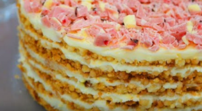 """Самый модный торт из крошки без выпечки """"Пломбир"""""""