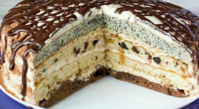 Воздушный торт «Королева» с маком