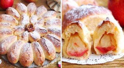 Вкуснейший «Отрывной» яблочный пирог. В каждой булочке кусочек яблочка. Готовить просто