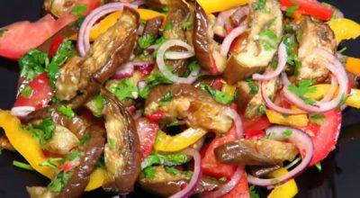 Обалденный салат из баклажанов: простой, полезный и вкусный
