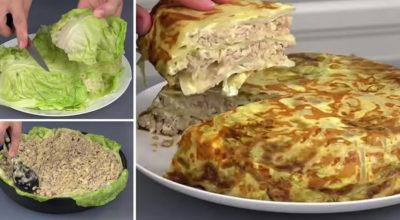 Как приготовить вкуснейшую капустную слоенку в духовке