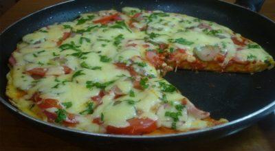Настоящая пицца на сковороде за 5 минут