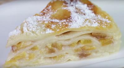 Пирог из лаваша с персиками —очень вкусно и просто