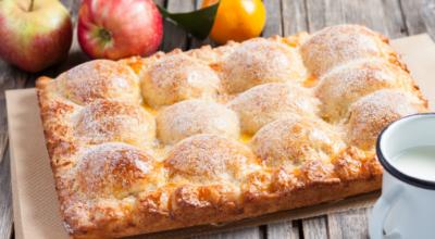 Пирог из творожного теста с яблоками. Проверенный семейный рецепт