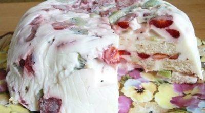 Легкий тортик на десерт — быстрый и вкусный
