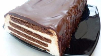 Универсальный тортик без выпечки «Полосатый»