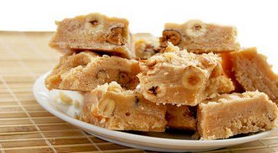 Потрясающая ванильная сливочная помадка с орехами