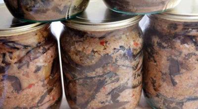 Вкуснейшие маринованные баклажаны с чесноком и орехами