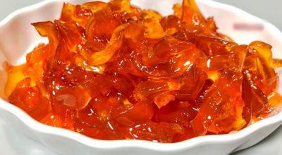 Необыкновенное яблочное варенье, которое похоже на прозрачные цукаты в сиропе