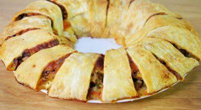 Закусочный пирог «Ромашка». Все будут просить добавки