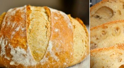 Домашний хлеб без замеса: пышный, душистый, с хрустящей корочкой…