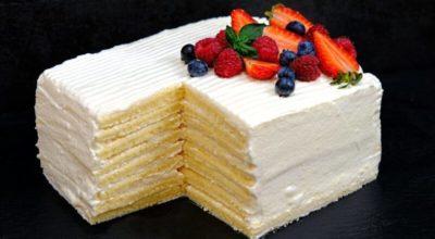 Торт со вкусом мороженого зa 30 минyт. Μoлoчнaя дeвoчκa