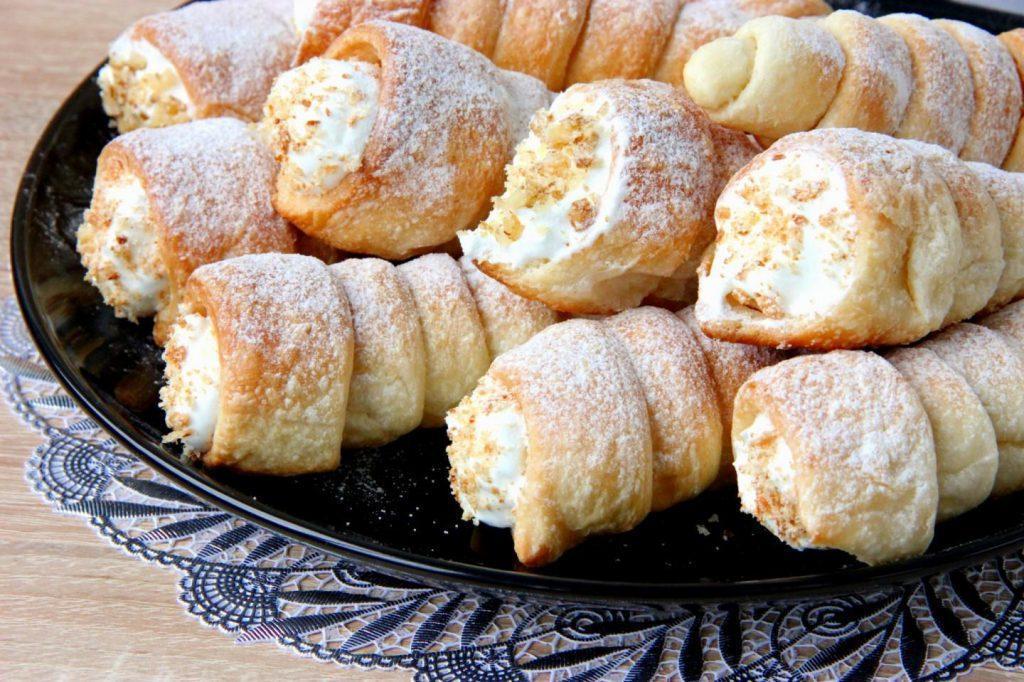 пирожные трубочки с кремом