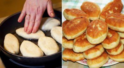 Βκycныe пирожки на сковороде